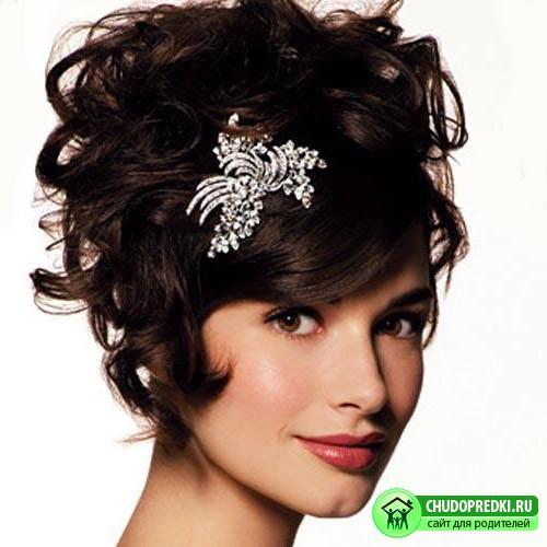 Свадебные стрижки на короткие волосы