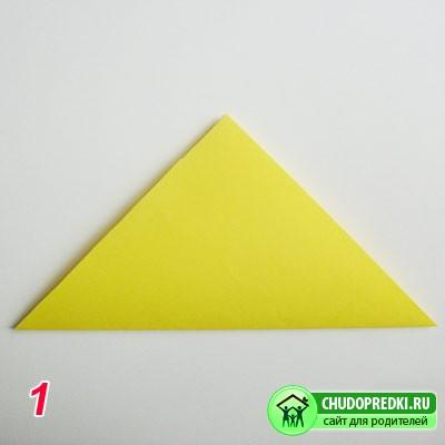 Оригами. Журавлик счастья