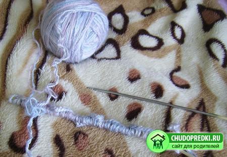 схема вязания пинеток спицами для начинающих.