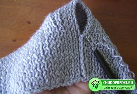 Вязание детской шапки на спицах