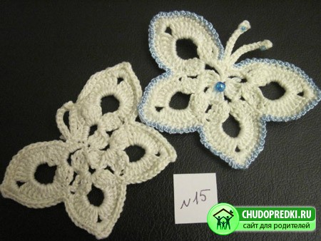 Вязание крючком. Бабочка