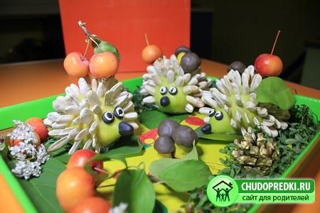 Поделки к празднику осени в детском саду или школе обычно делают из...