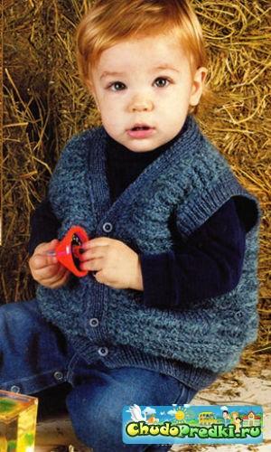 Схемы вязания спицами мальчикам до года.