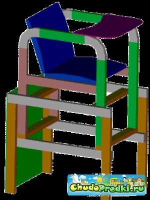 Нужен чертёж-схема стульчика для кормления.  Кто нибудь может поделится.  Или дать дельный совет по изготовлению?