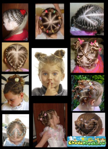 Прически на детские волосы