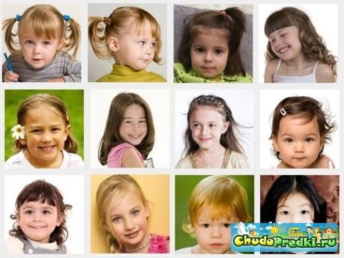 Прически для малышей также поддаются
