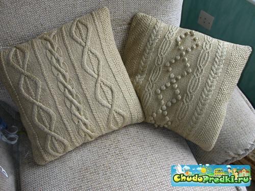 Вязанные подушки для вашего