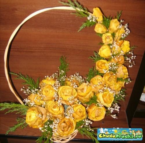 Поделки из листьев розы