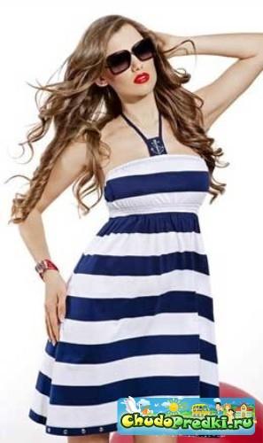 Простые выкройки летних платьев для женщин.  Ткани для пошива подобных летних нарядов могут быть самыми...