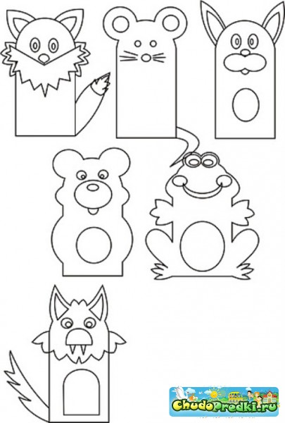 Сказка теремок своими руками из бумаги шаблоны