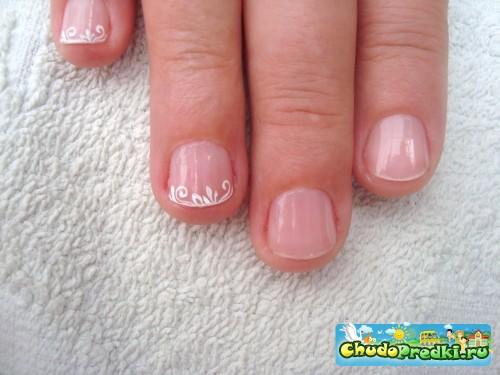 Гель на очень короткие ногти