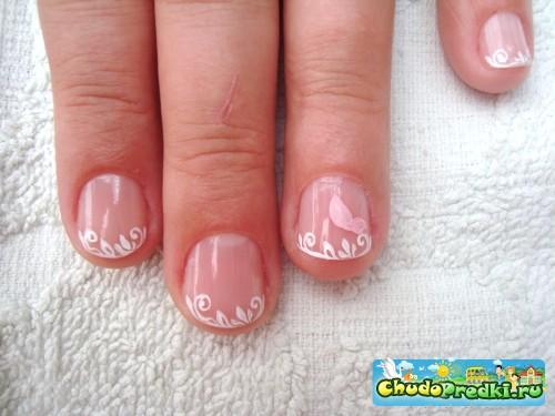 Рисунки на очень короткие ногти