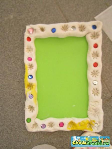 Рамка для фото своими руками из солёного теста