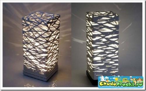 Декор стен иКак сделать настольную ламКрасивая лёгкая