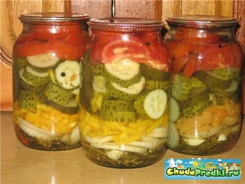 Салаты на зиму из овощей