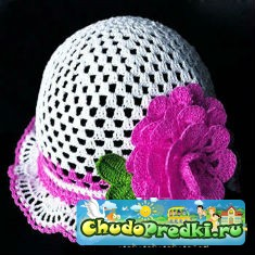 Вязание крючком шапочки для девочек; Летние