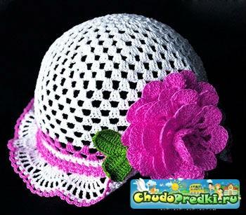 Летние шапочки крючком для девочек