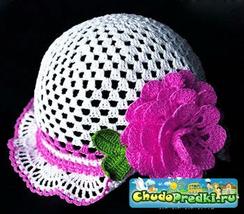 Детские шапочки на лето крючком