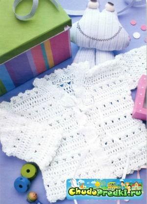 Вязание крючком для девочек кофточки будем выполнять с использованием таких видов петель, как воздушных, столбика без накида, и столбика с накидом