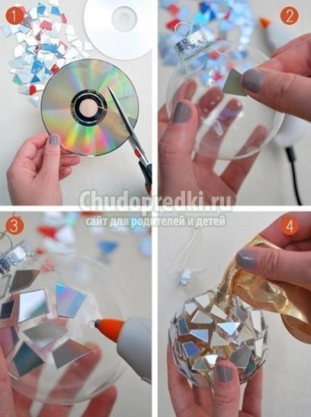 Новогодние игрушки своими руками из бумаги лёгкие
