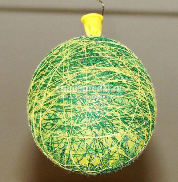 Елочный шар своими руками с пошаговым фото