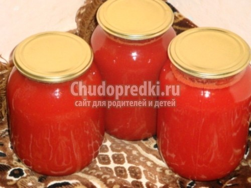 Томатный сок рецепт в домашних условиях фото