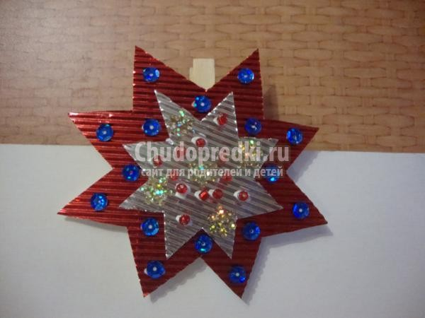 Рождественская звезда своими руками мастер класс