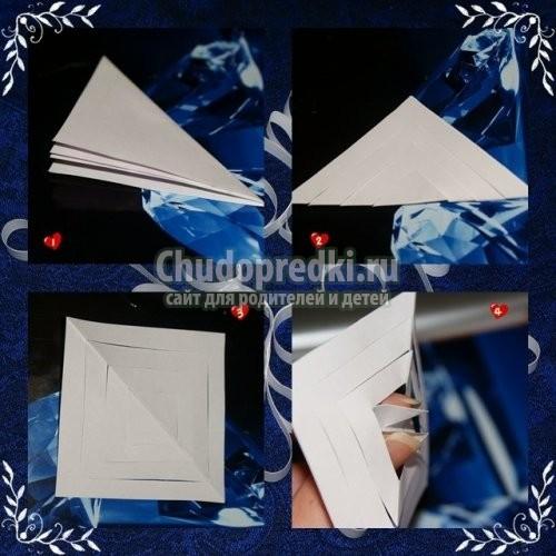Снежинки из бумаги объемные