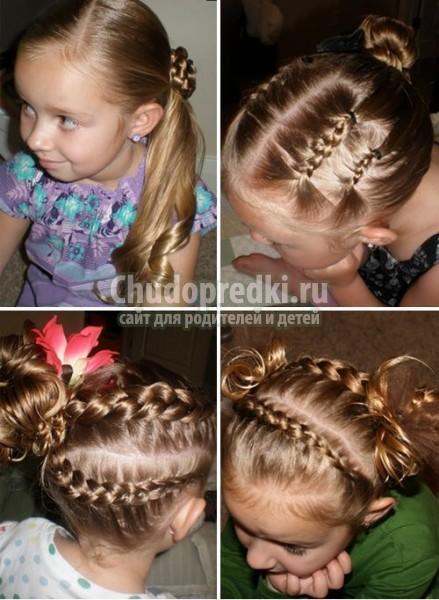 Смотреть детские прически на короткие волосы