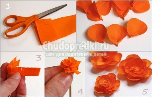 Легкие и красивые поделки из гофрированной бумаги
