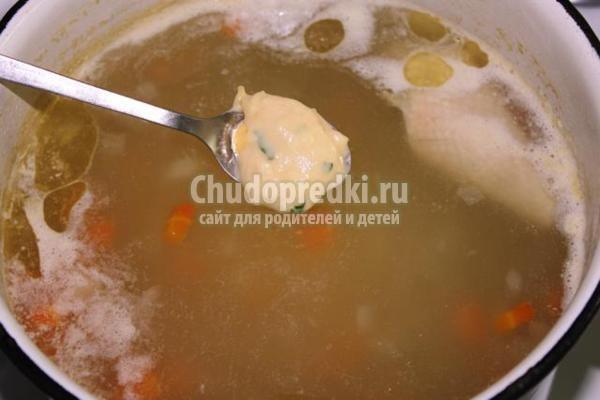 Суп с сырными клецками рецепты с пошагово
