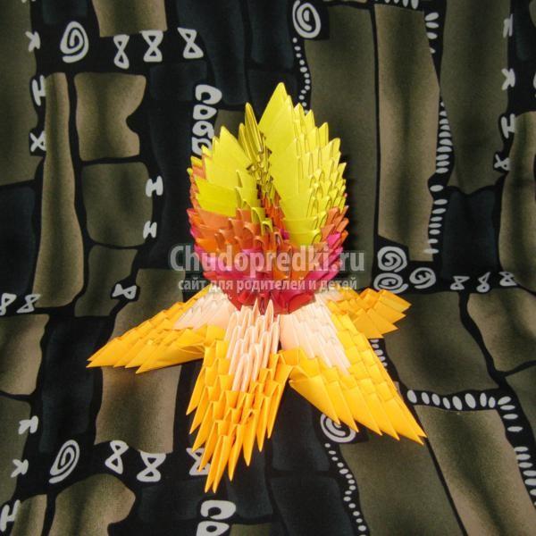 Модульное оригами. Вечный огонь. Мастер класс с пошаговыми фото