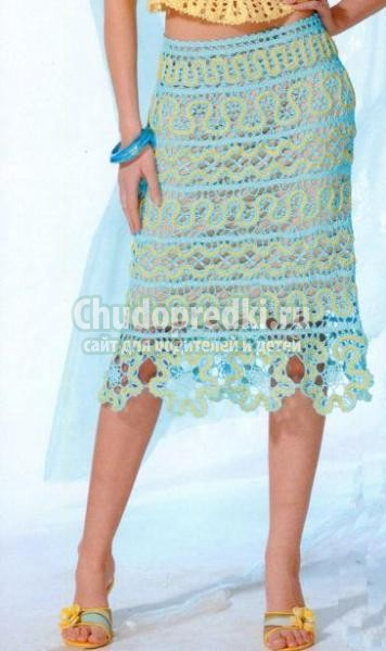 Вязаные летние юбки