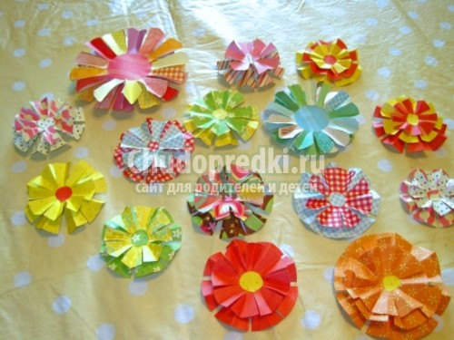 Бумажные цветы скрапбукинга своими руками