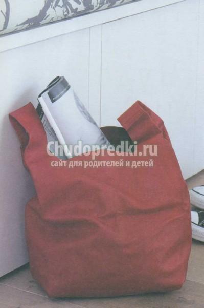 мягенькая сумка из кожи для покупок.