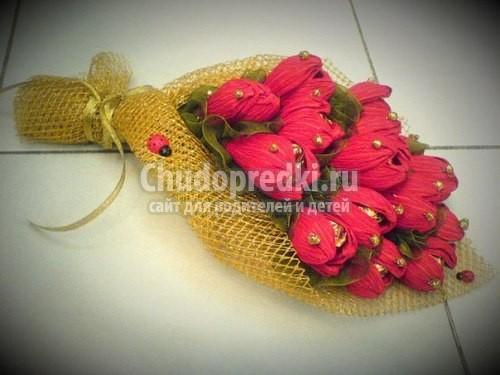 Изготовление цветов из бумаги своими руками с