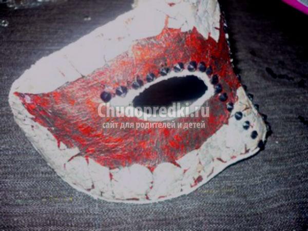 как сделать маску из бумаги