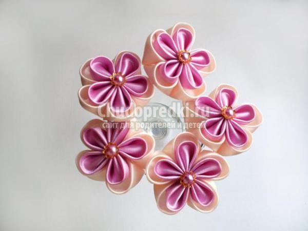 Шпильки с цветами мастер класс для новичков #2