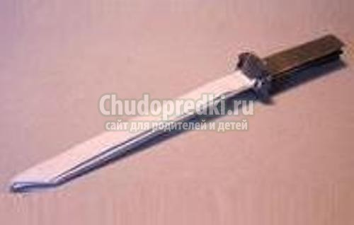 Как сделать из бумаги меч