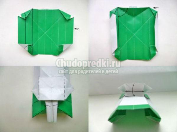 как делать из бумаги танк