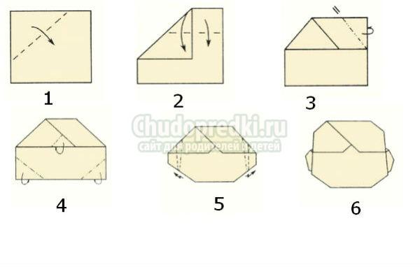в технике оригами красивую