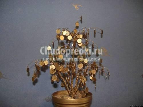 Как сделать денежное дерево своими руками из