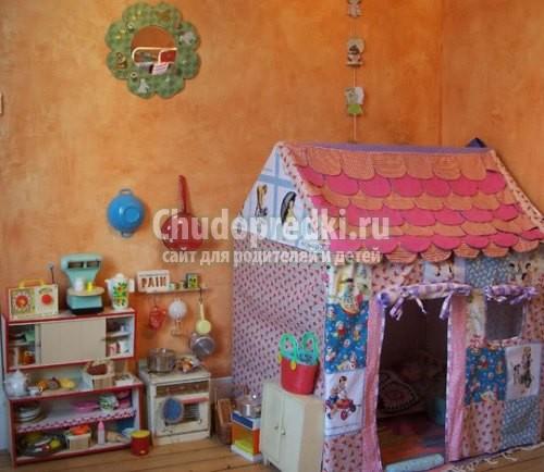 Как сделать детский домик для ребёнка 244
