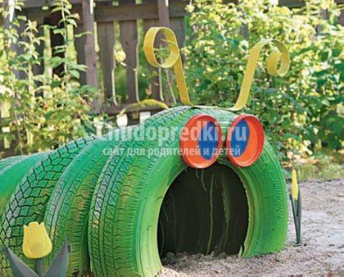 Гусеница своими руками из шины фото