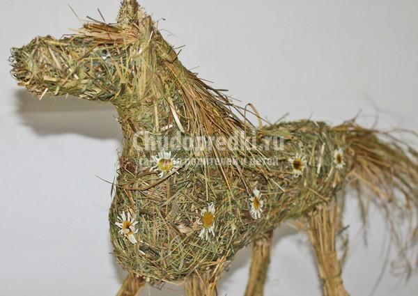 Как сделать новогодние лошади