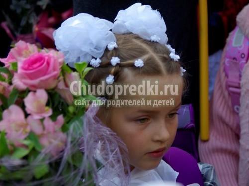 Как сделать прическу девочке на 1 сентября с бантами - Belbera.Ru