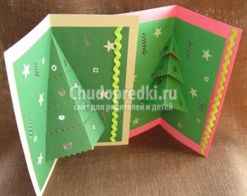 Новогодние открытки как сделать самим