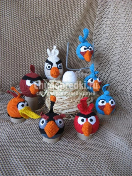 Angry Birds. вязание игрушек