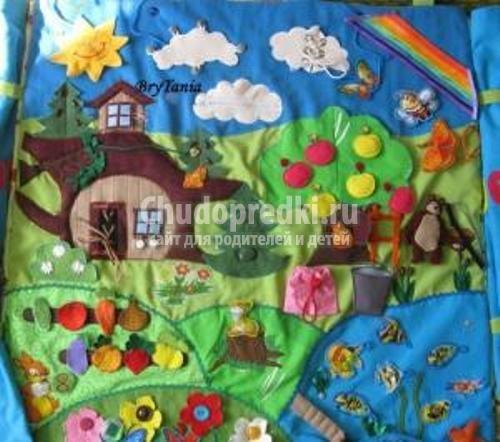 Развивающий коврик своими руками для детей от 0 до 1