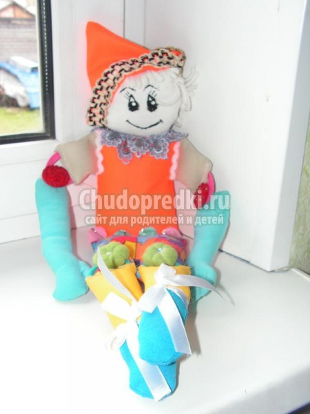 Клоун игрушка из ткани своими руками